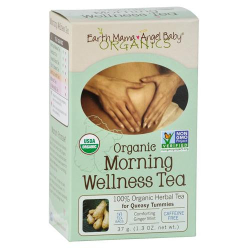Mother Mantis: Earth Mama Angel Baby Morning Wellness Tea - 16 Tea Bags Earth Mama Angel Baby