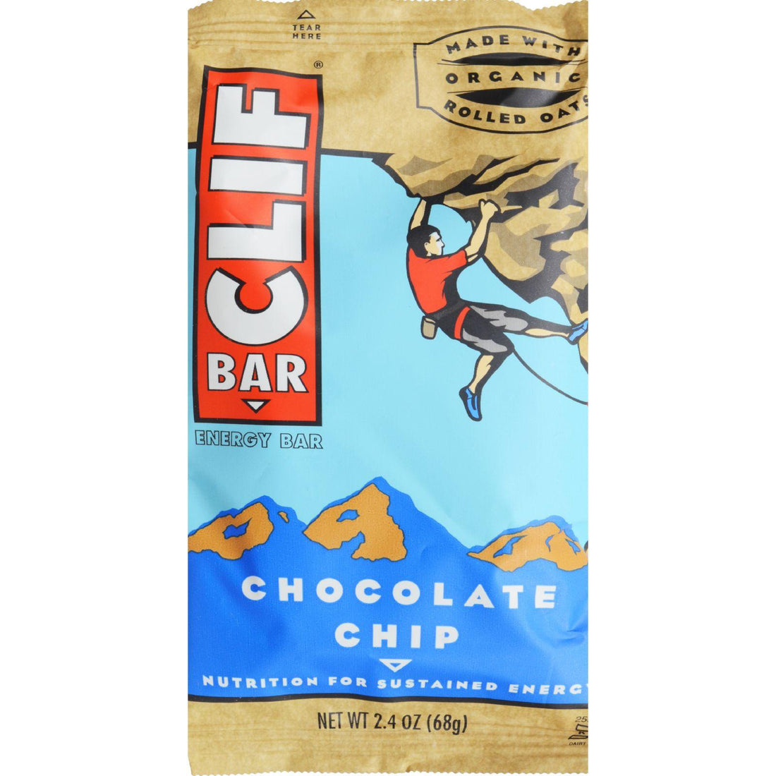 Mother Mantis: Clif Bar - Organic Chocolate Chip - Case Of 12 - 2.4 Oz Clif Bar