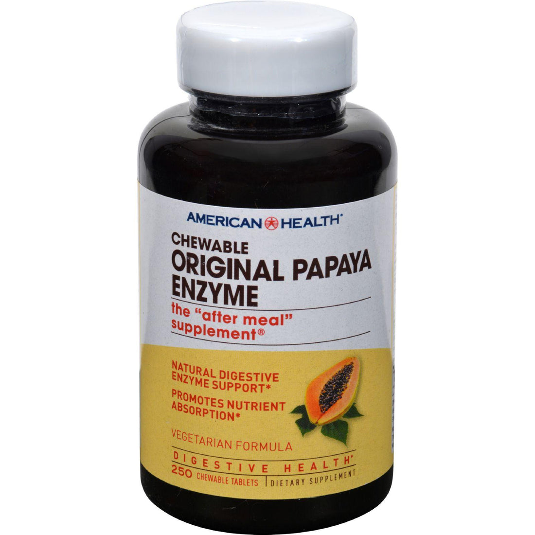 Mother Mantis: American Health Original Papaya Enzyme Chewable - 250 Tablets American Health