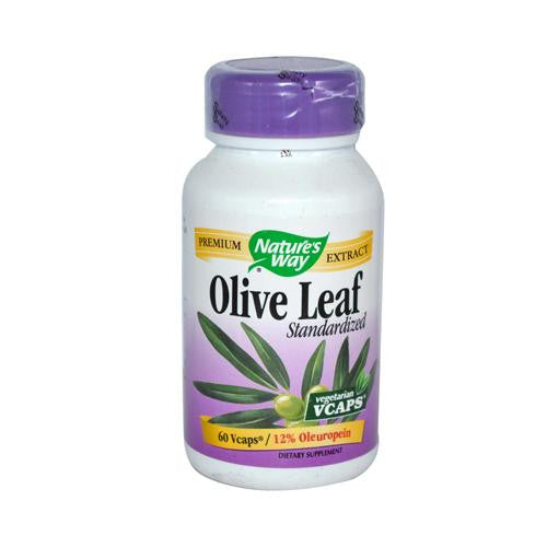 Mother Mantis: Nature's Way Olive Leaf Standardized 12% Oleuropein - 60 Vegetarian Capsules Nature's Way
