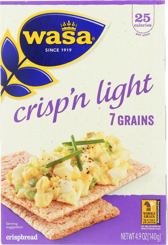 Wasa Crispbread Crisp 'n Light 7 Grain Crackerbread - Case Of 10 - 4.9 Oz. Wasa Crispbread