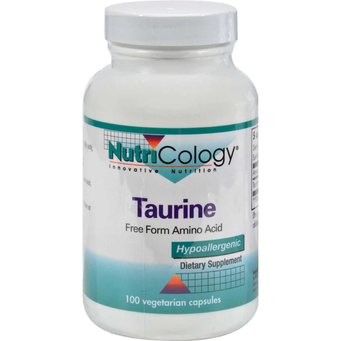 Mother Mantis: Nutricology Taurine - 100 Capsules Nutricology
