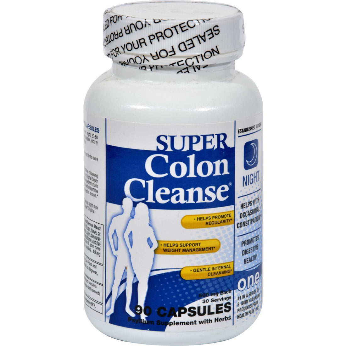 Mother Mantis: Health Plus Super Colon Cleanse Night Formula - 90 Capsules Health Plus