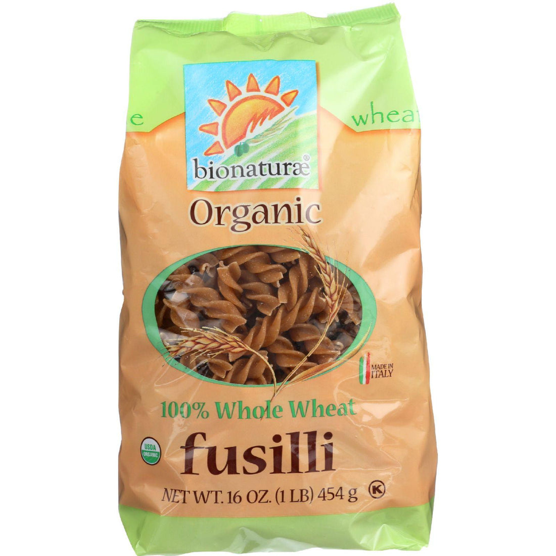 Mother Mantis: Bionaturae Pasta - Organic - 100 Percent Whole Wheat - Fusilli - 16 Oz - Case Of 12 Bionaturae