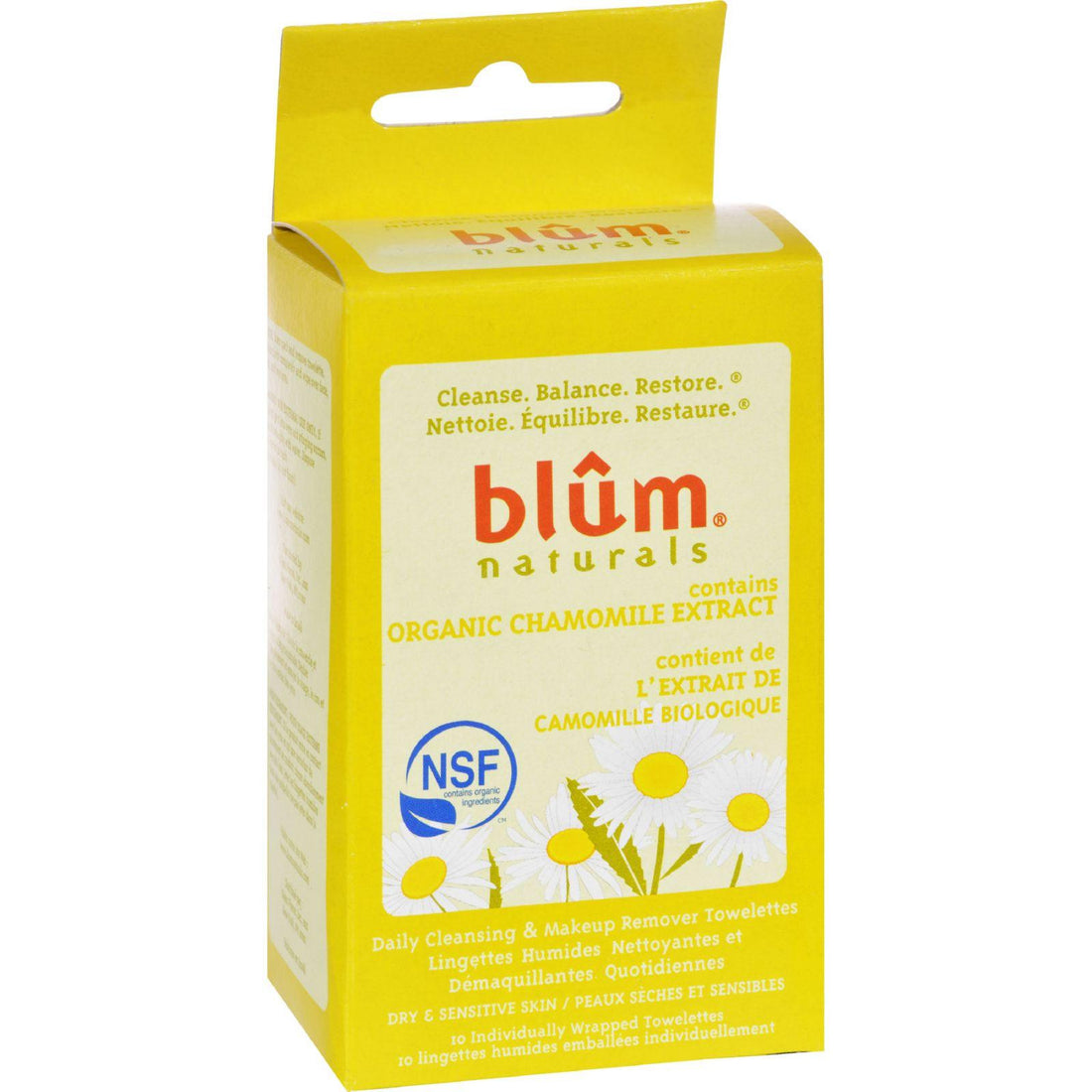 Mother Mantis: Blum Naturals Dry And Sensitive Skin Daily Cleansing And Makeup Remover Towelettes - 10 Towelettes Blum Naturals