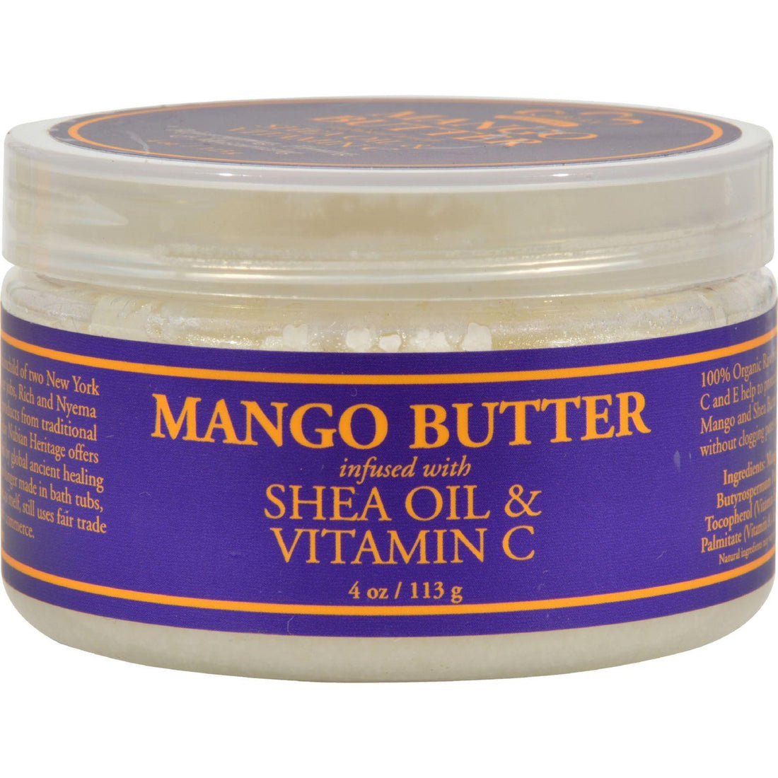 Mother Mantis: Nubian Heritage Mango Butter Infused With Shea Oil And Vitamin C - 4 Oz Nubian Heritage