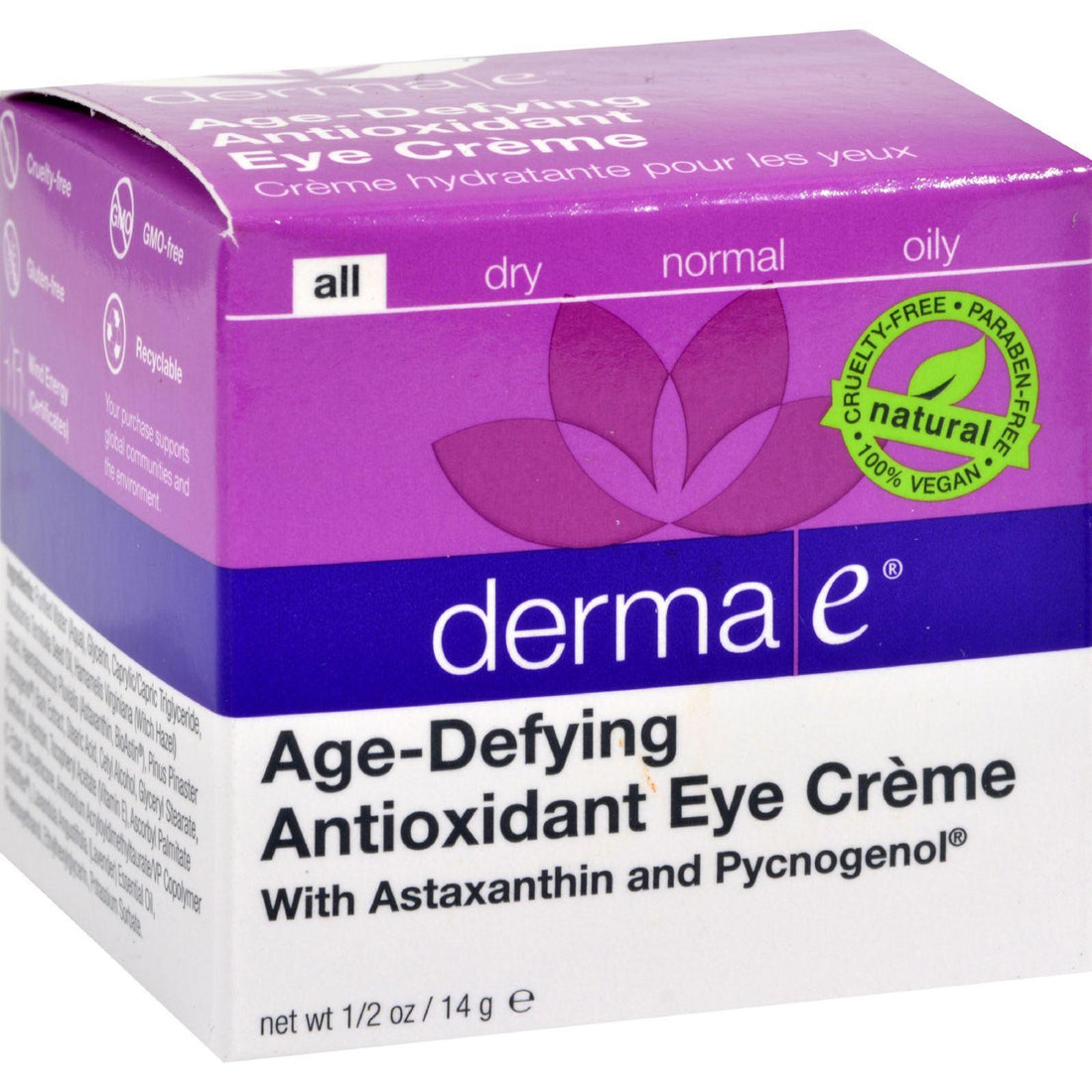 Mother Mantis: Derma E Age-defying Eye Creme With Astaxanthin And Pycnogenol - 0.5 Oz Derma E