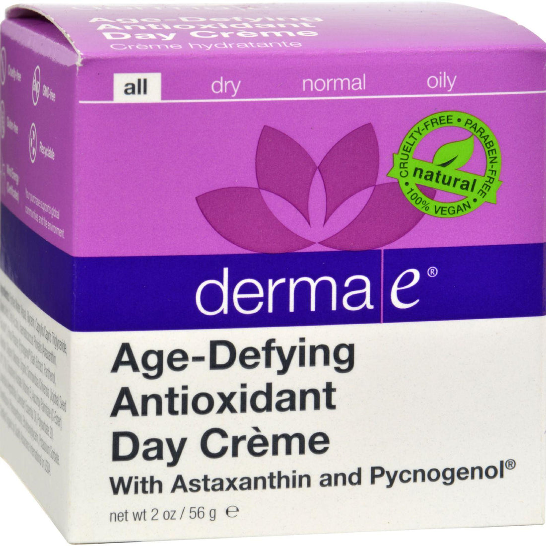 Mother Mantis: Derma E Age-defying Day Creme With Astaxanthin And Pycnogenol - 2 Oz Derma E