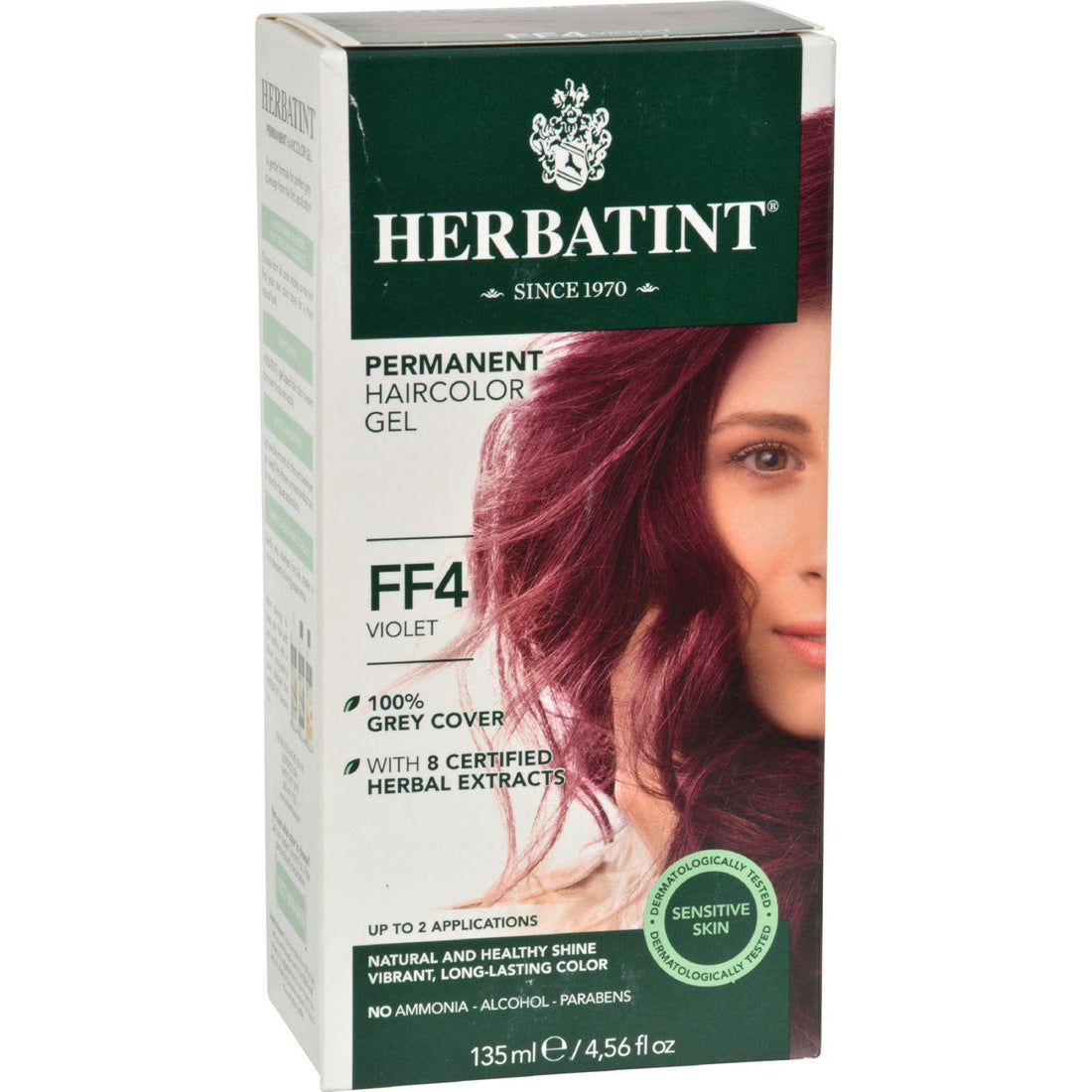 Mother Mantis: Herbatint Permanent Herbal Haircolour Gel Ff4 Violet - 1 Kit Herbatint