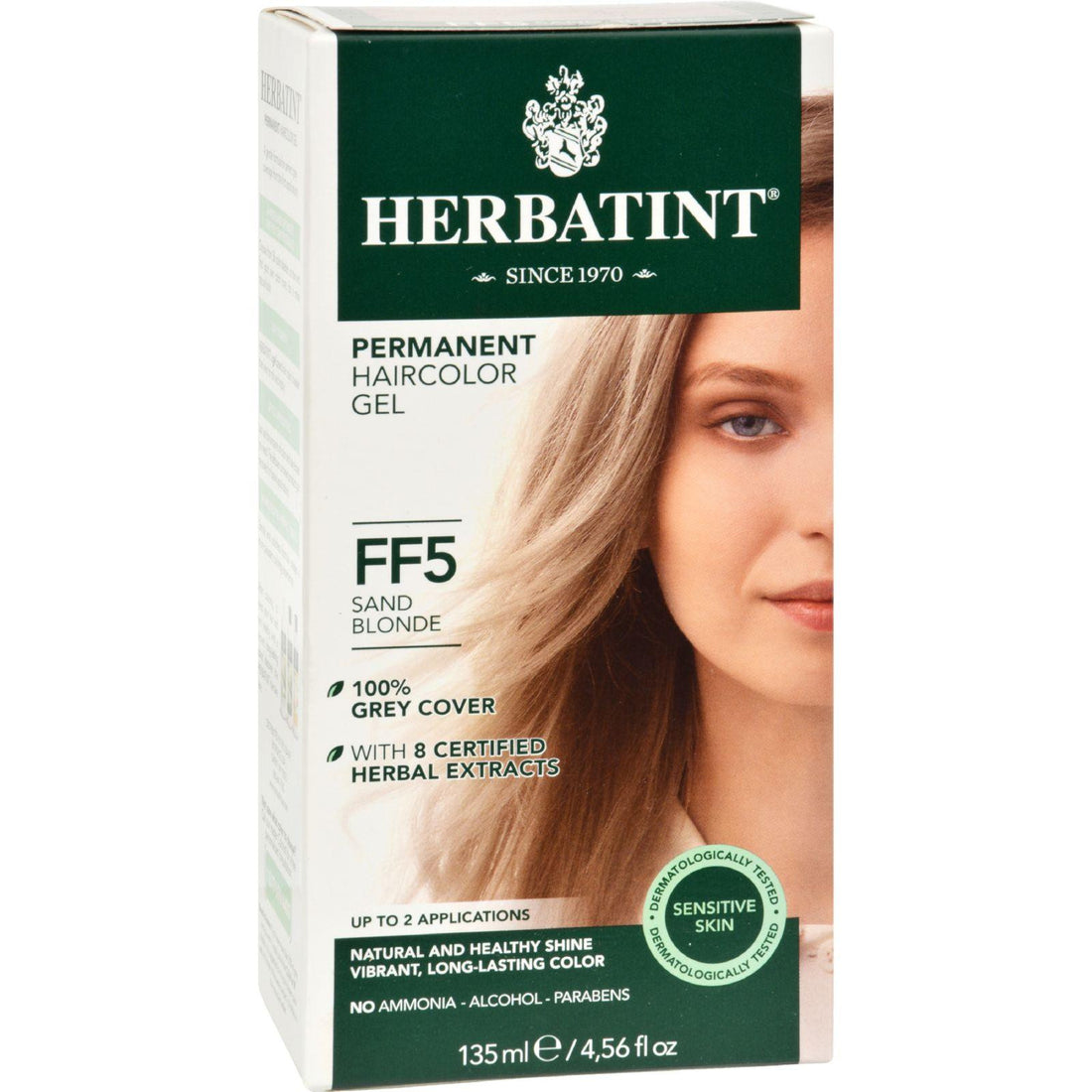 Mother Mantis: Herbatint Permanent Herbal Haircolour Gel Ff5 Sand Blonde - 1 Kit Herbatint