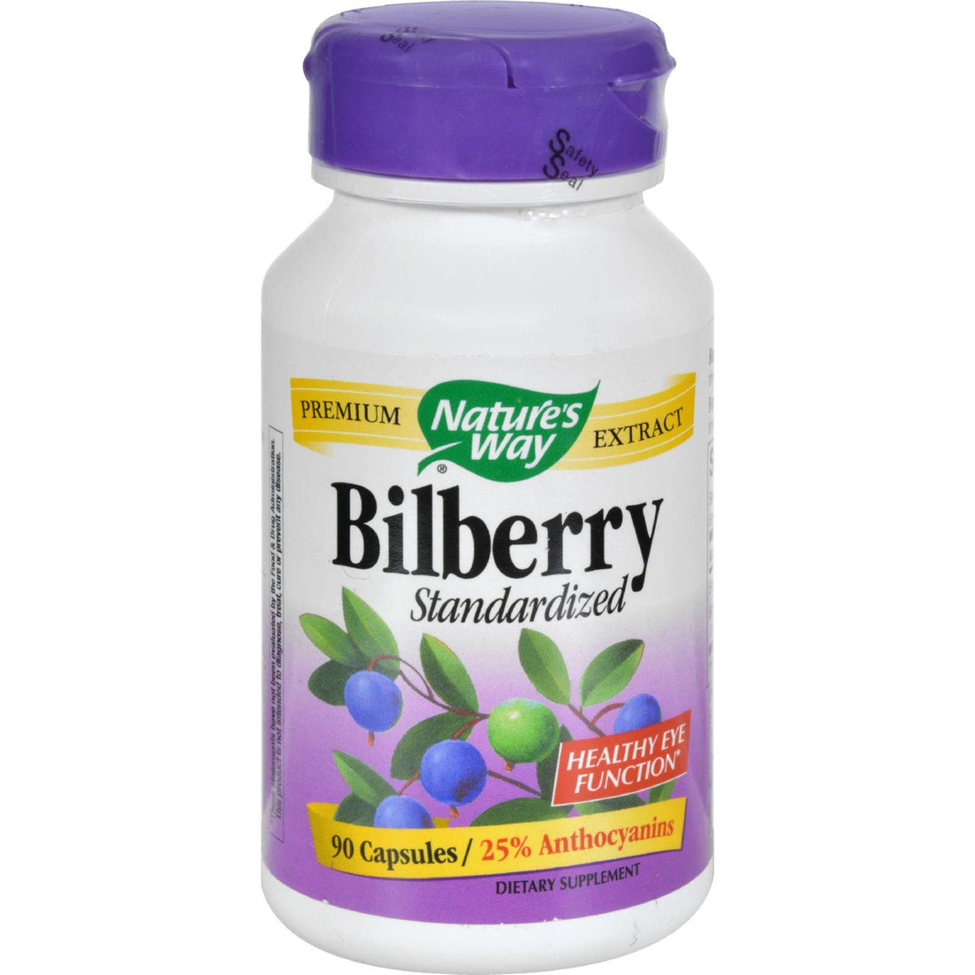 Mother Mantis: Nature's Way Bilberry Standardized - 80 Mg - 90 Capsules Nature's Way