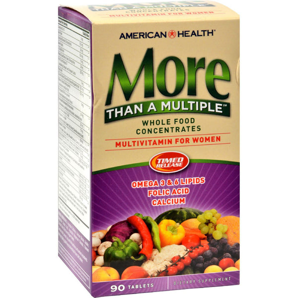 Mother Mantis: American Health More Than A Multiple Whole Food Concentrates For Women - 90 Tablets American Health