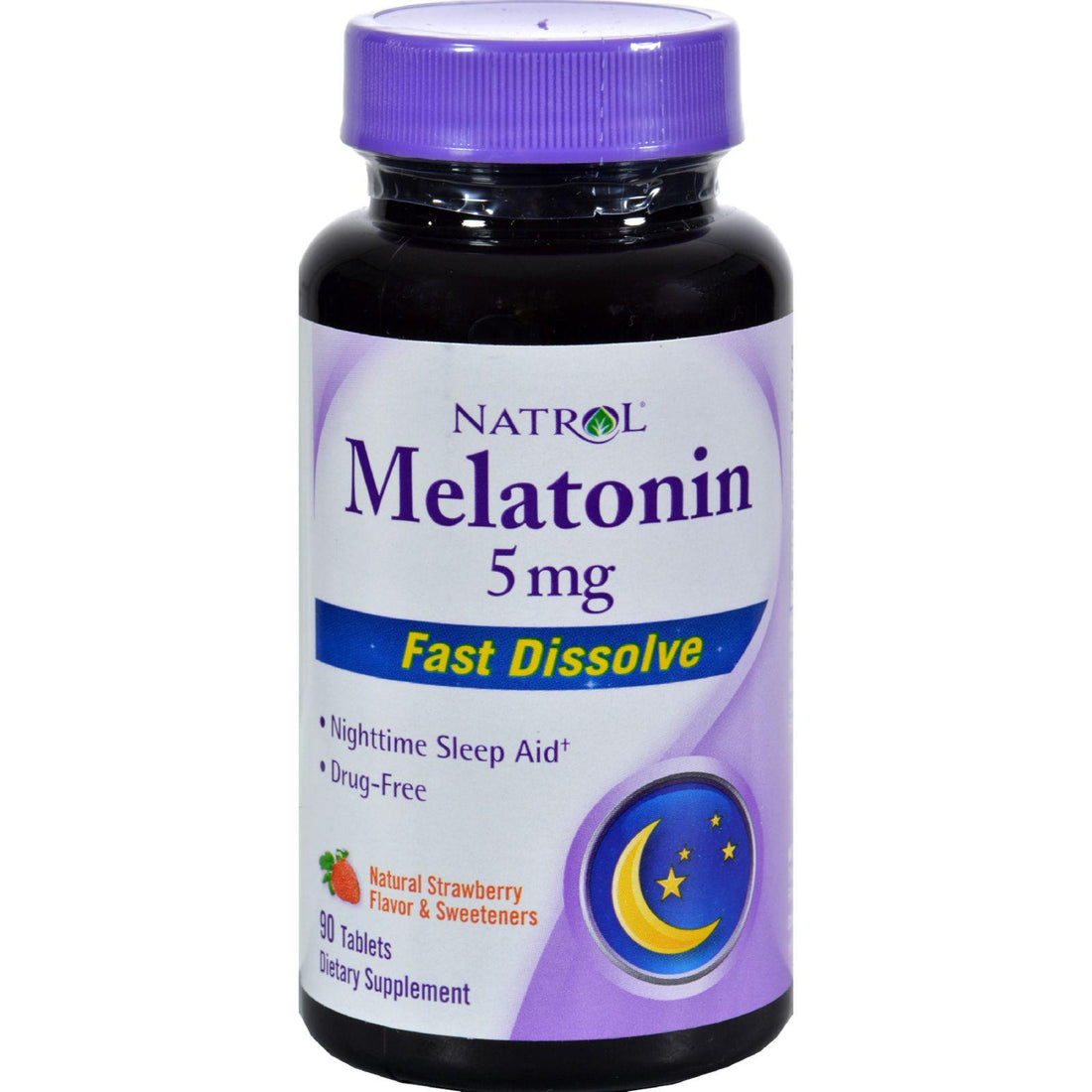 Mother Mantis: Natrol Melatonin Fast Dissolve Tablets Strawberry - 5 Mg - 90 Tablets Natrol