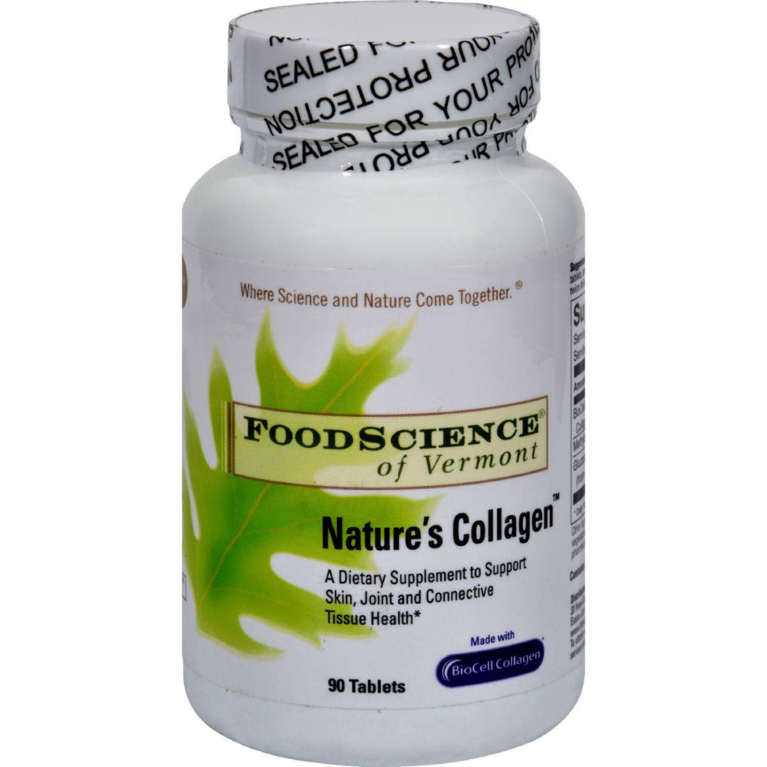 Mother Mantis: Foodscience Of Vermont Nature's Collagen - 90 Tablets Food Science Of Vermont