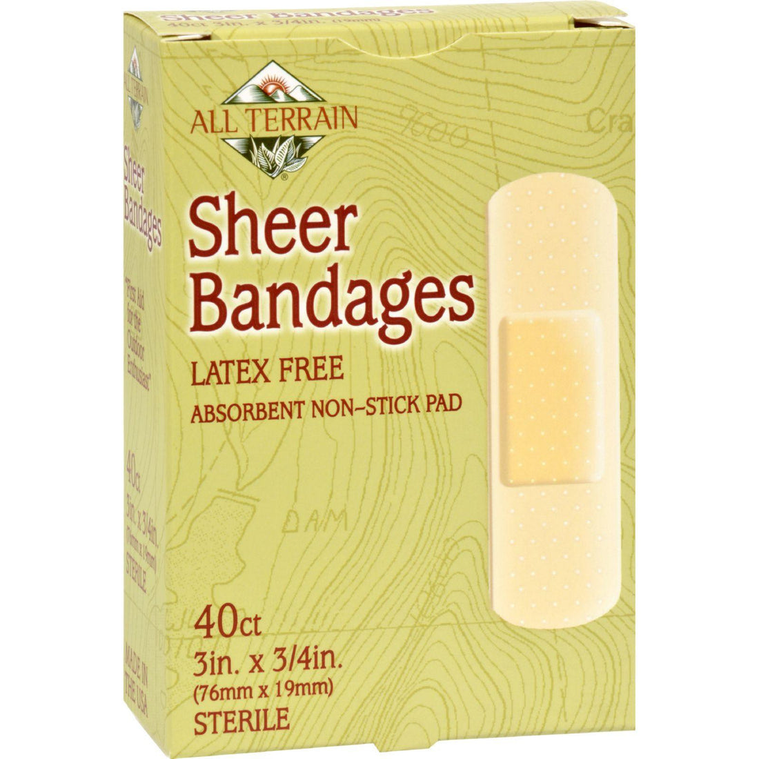 Mother Mantis: All Terrain Bandages - Sheer - 3-4 In X 3 In - 40 Ct All Terrain