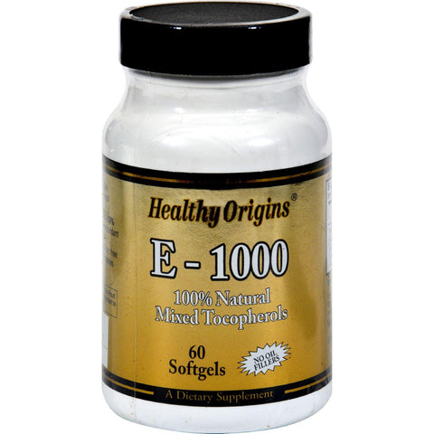 Healthy Origins E-1000 - 1000 Iu - 60 Softgels Healthy Origins