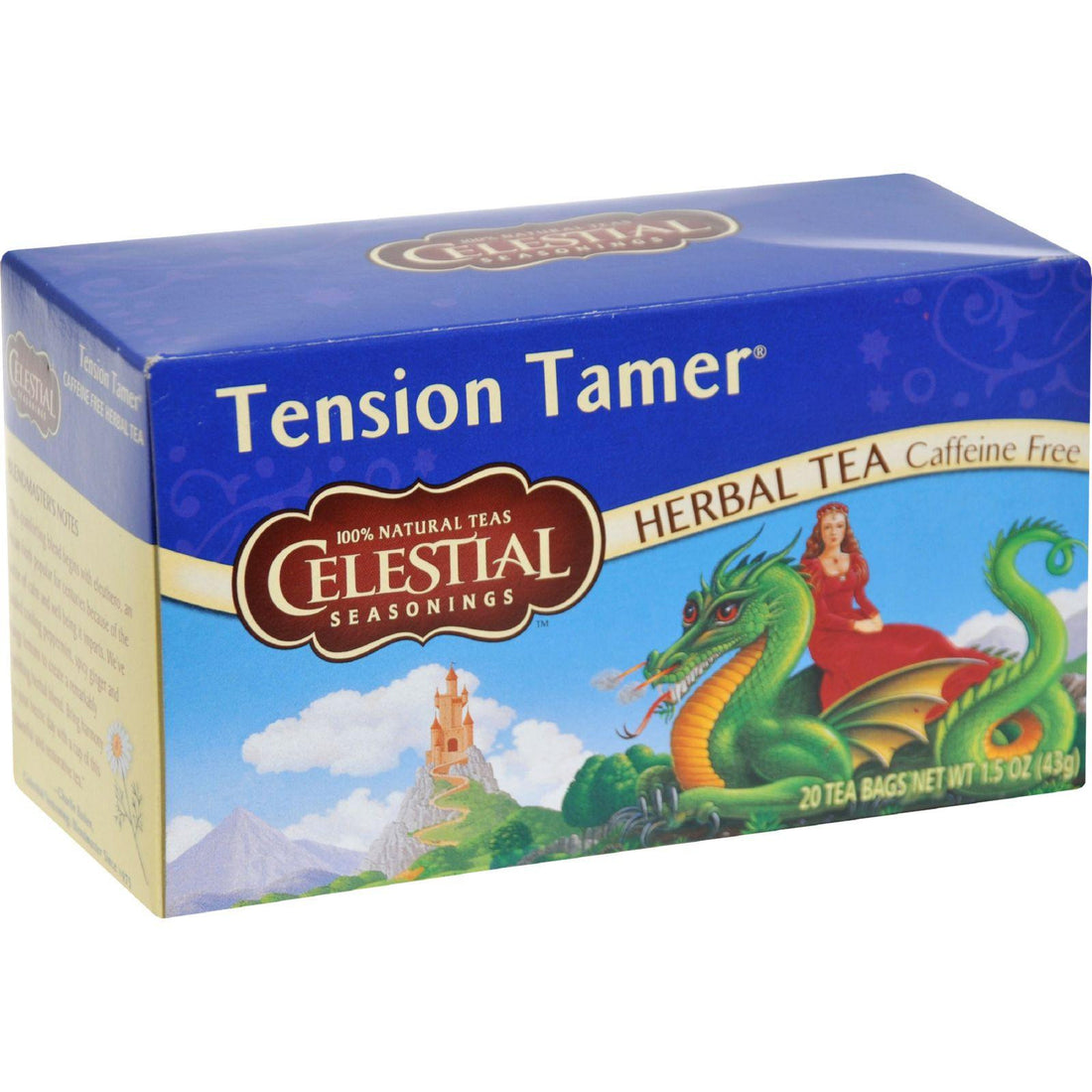 Mother Mantis: Celestial Seasonings Tension Tamer Herbal Tea Caffeine Free - 20 Tea Bags - Case Of 6 Celestial Seasonings