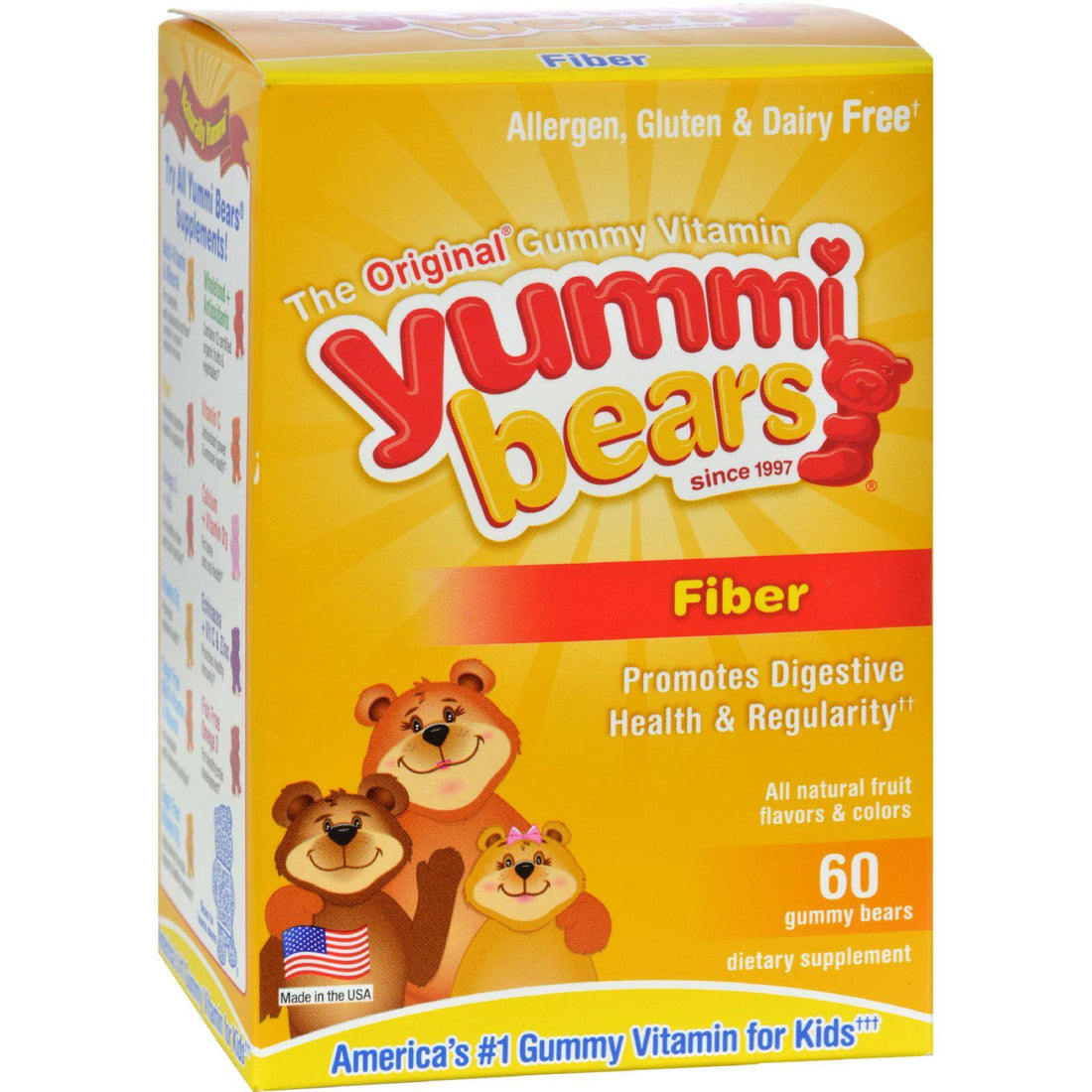 Mother Mantis: Hero Nutritionals Yummi Bears Fiber Supplement For Kids - 60 Gummies Hero Nutritional Products