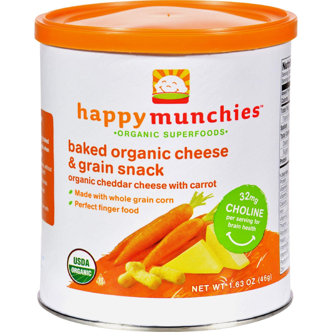 Mother Mantis: Happy Baby Happy Munchies Baked Organic Snacks - Cheddar Cheese With Carrots - Case Of 6 - 1.63 Oz Happy Baby