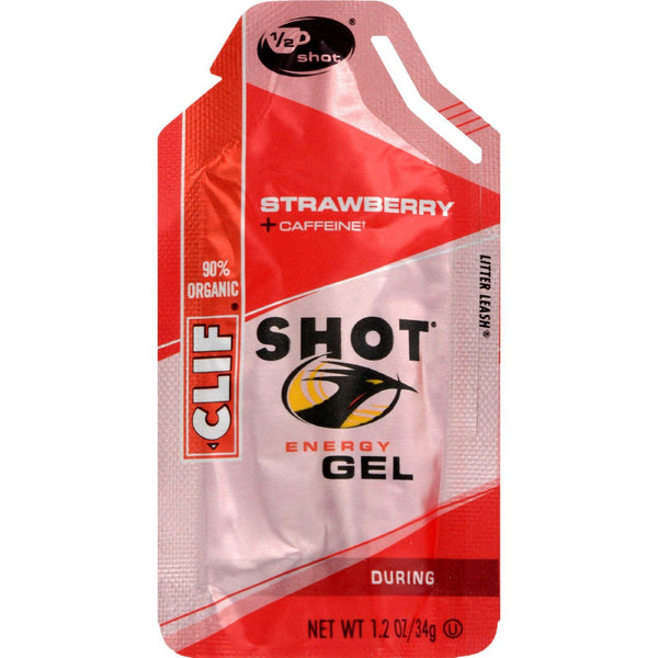 Mother Mantis: Clif Bar Clif Shot - Organic Strawberry - Case Of 24 - 1.2 Oz Clif Bar