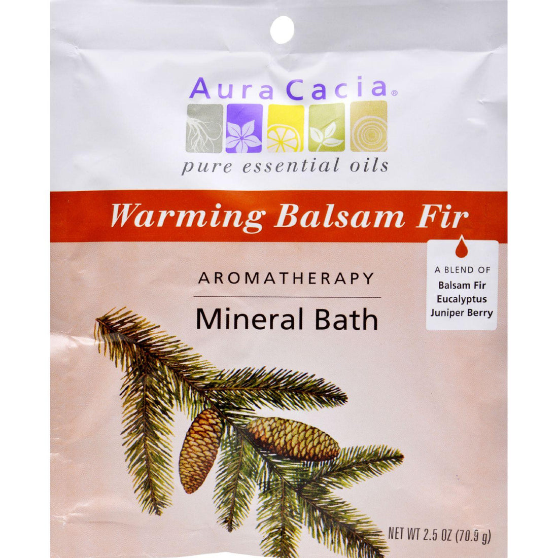 Mother Mantis: Aura Cacia Aromatherapy Mineral Bath Soothing Heat - 2.5 Oz - Case Of 6 Aura Cacia