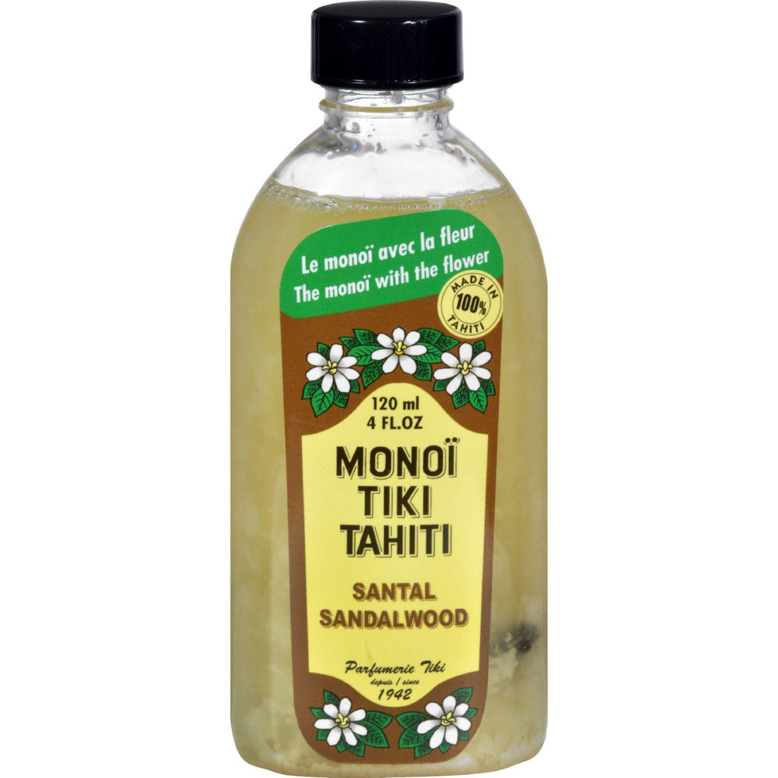 Mother Mantis: Monoi Tiare Tahiti Santal Sandalwood Coconut Oil - 4 Fl Oz Monoi