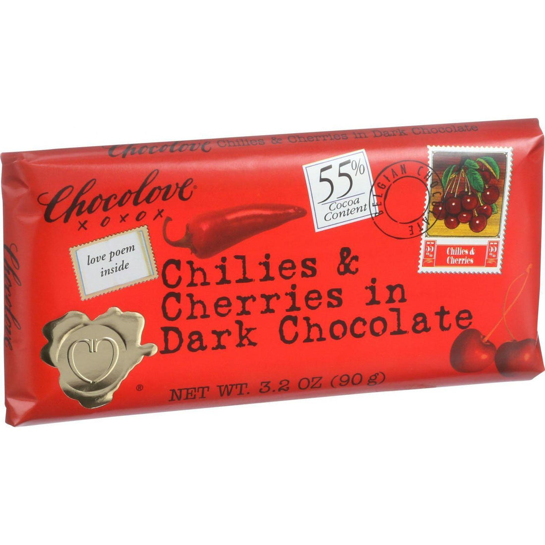 Mother Mantis: Chilies & Cherries In Dark Chocolate Chocolove Xoxox
