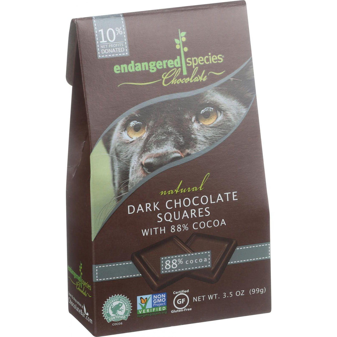 Mother Mantis: Dark Chocolate Panther Bites Endangered Species Chocolate