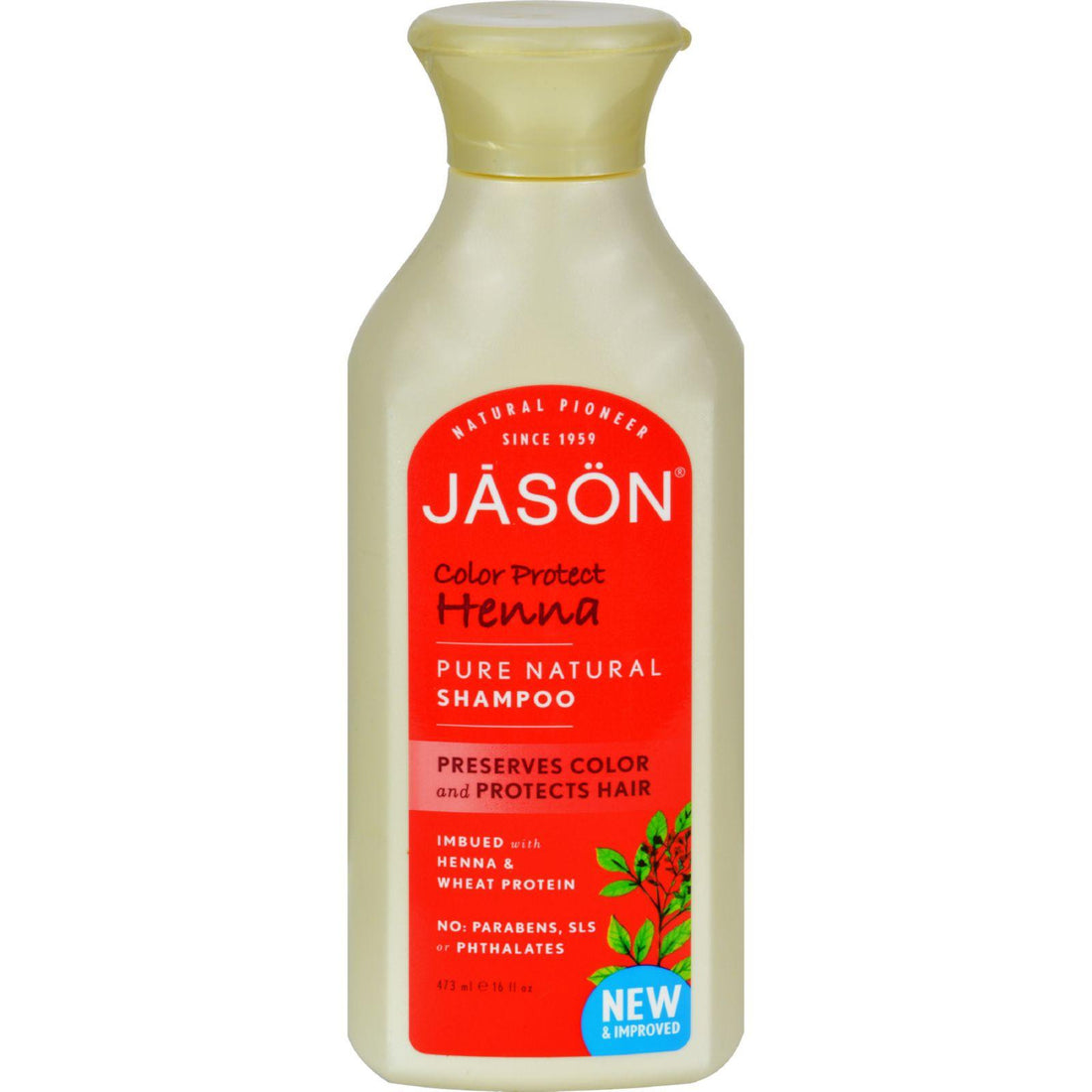 Mother Mantis: Jason Pure Natural Color Protect Henna Shampoo - 16 Fl Oz Jason Natural Products