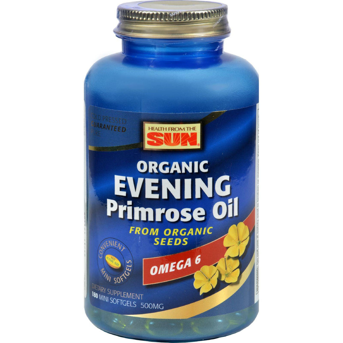 Mother Mantis: Health From The Sun Evening Primrose Oil - 500 Mg - 180 Softgels Health From The Sun
