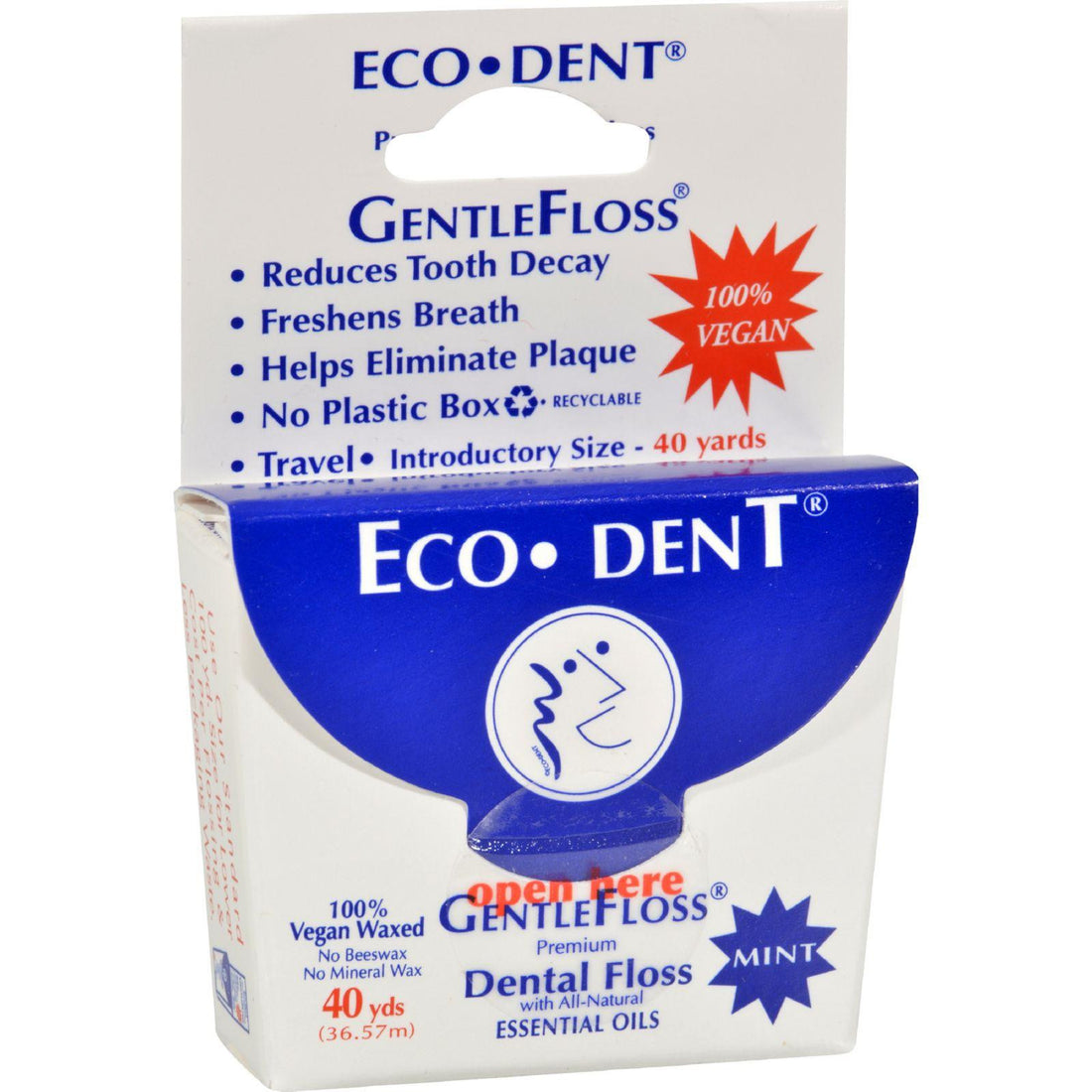 Mother Mantis: Eco-dent Gentle Floss - Mint 40 - Case Of 6 - 40 Yds Eco-dent
