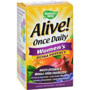 Nature's Way Alive Once Daily Women's Multi-vitamin Ultra Potency - 60 Tablets Nature's Way