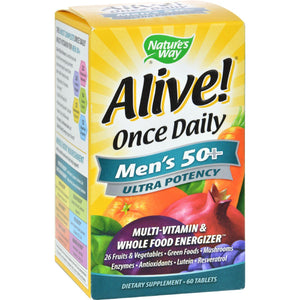 Nature's Way Alive Once Daily Men's 50 Plus Multi-vitamin - 60 Tablets Nature's Way