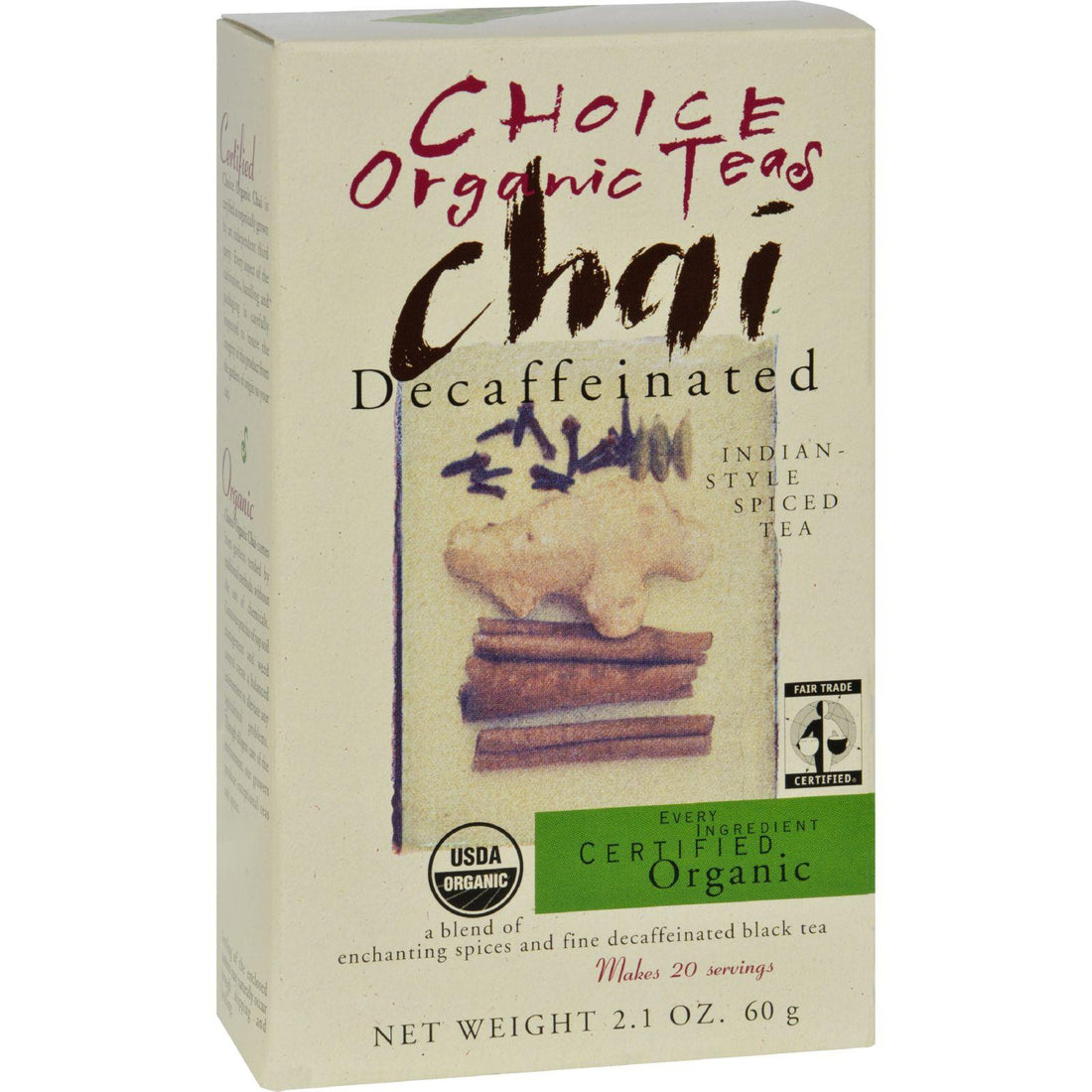 Mother Mantis: Choice Organic Teas Chai - Decaffeinated - 2.1 Oz Choice Organic Teas