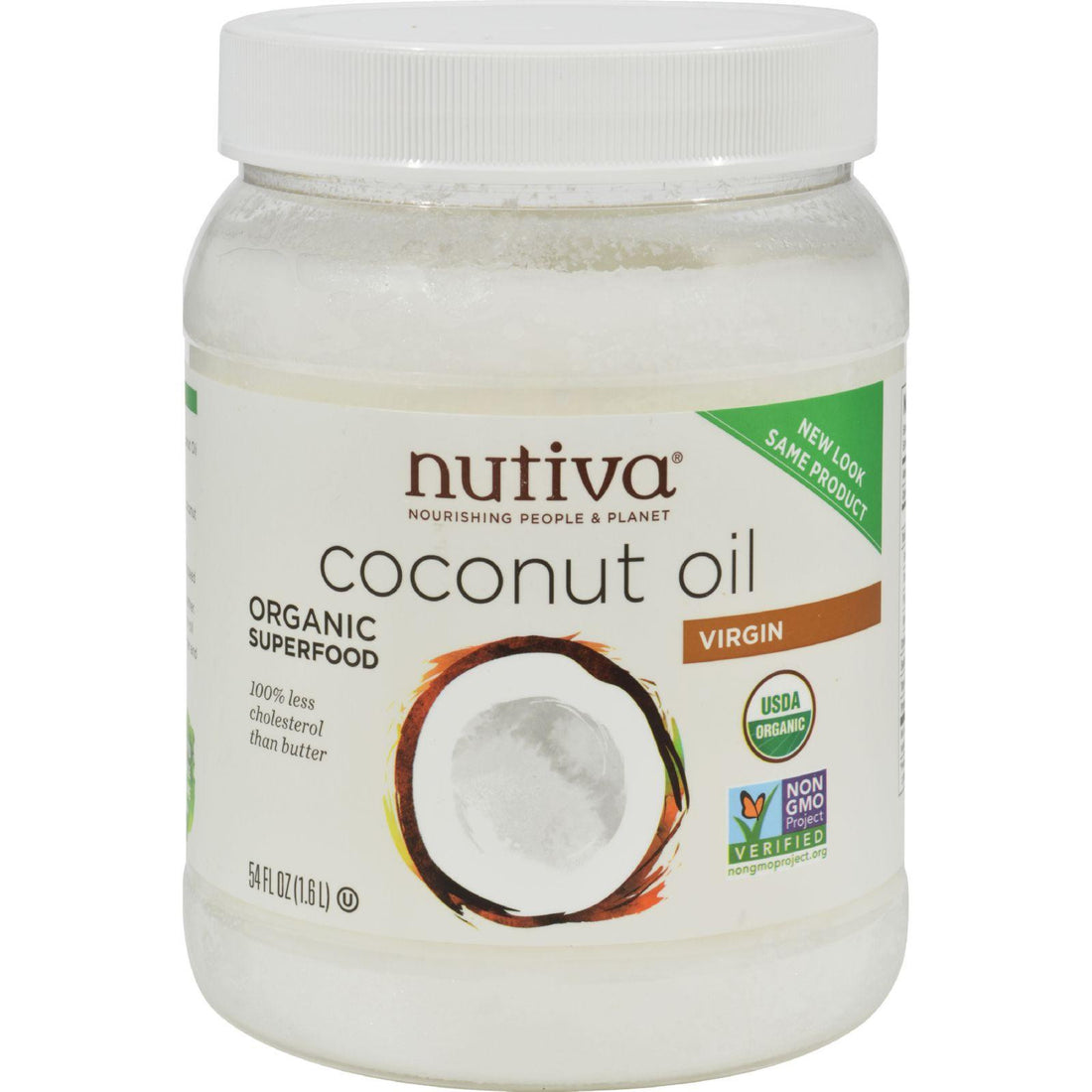 Mother Mantis: Nutiva Extra Virgin Coconut Oil Organic - 54 Fl Oz Nutiva