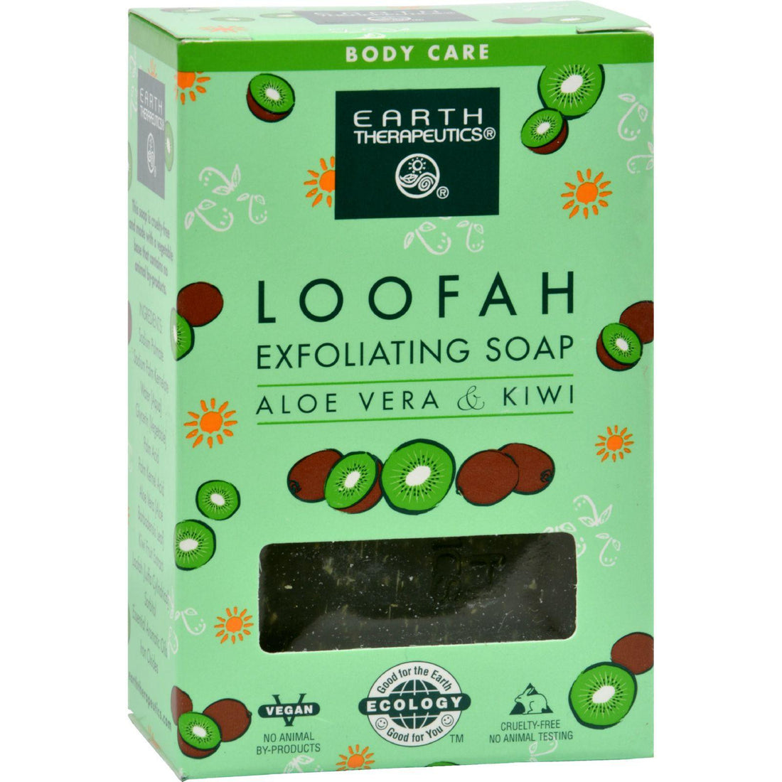 Mother Mantis: Earth Therapeutics Loofah Exfoliating Bar Soap Aloe Vera And Kiwi - 4.2 Oz Earth Therapeutics