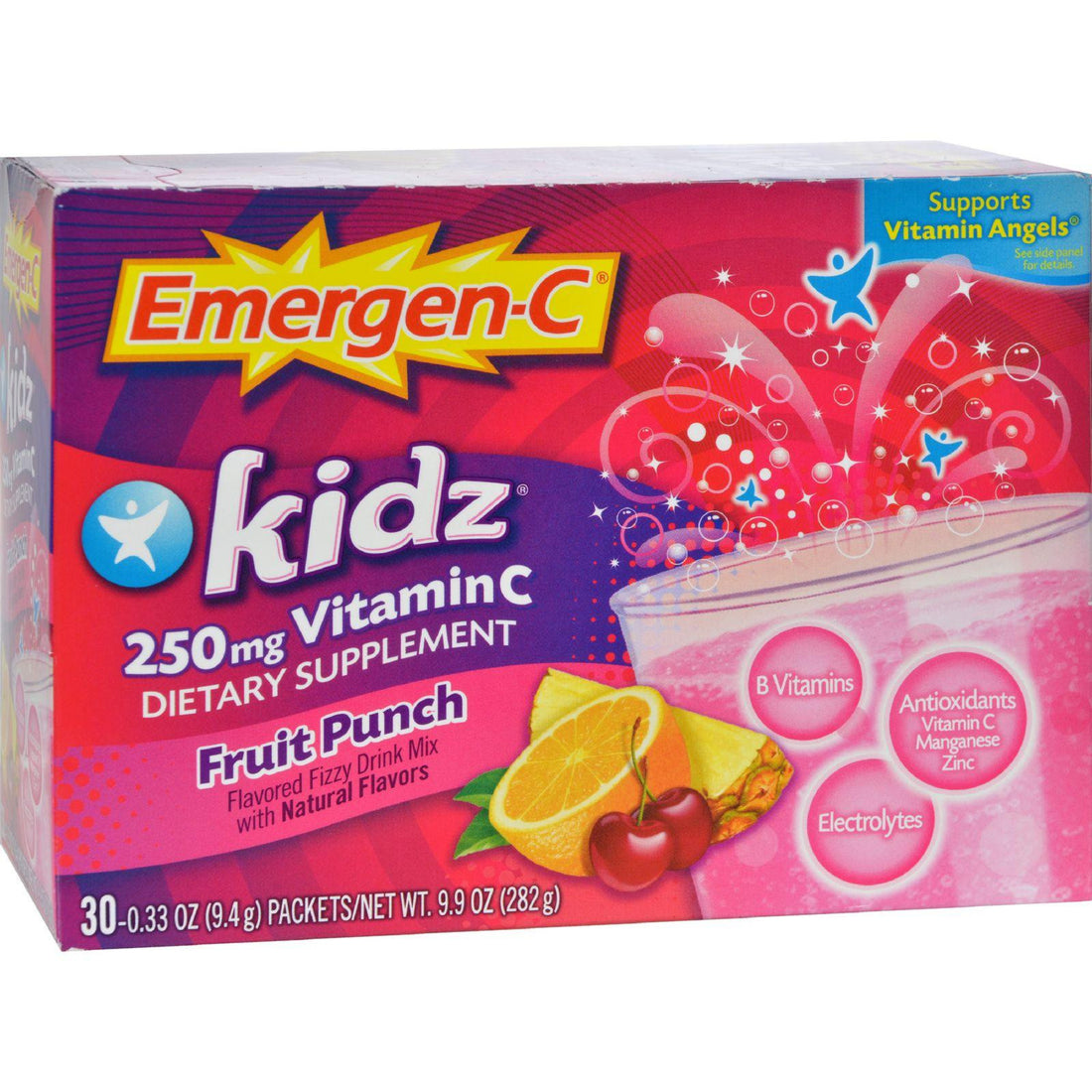 Mother Mantis: Alacer Emergen-c Kidz Vitamin C Fizzy Drink Mix Fruit Punch - 250 Mg - 30 Packets Alacer