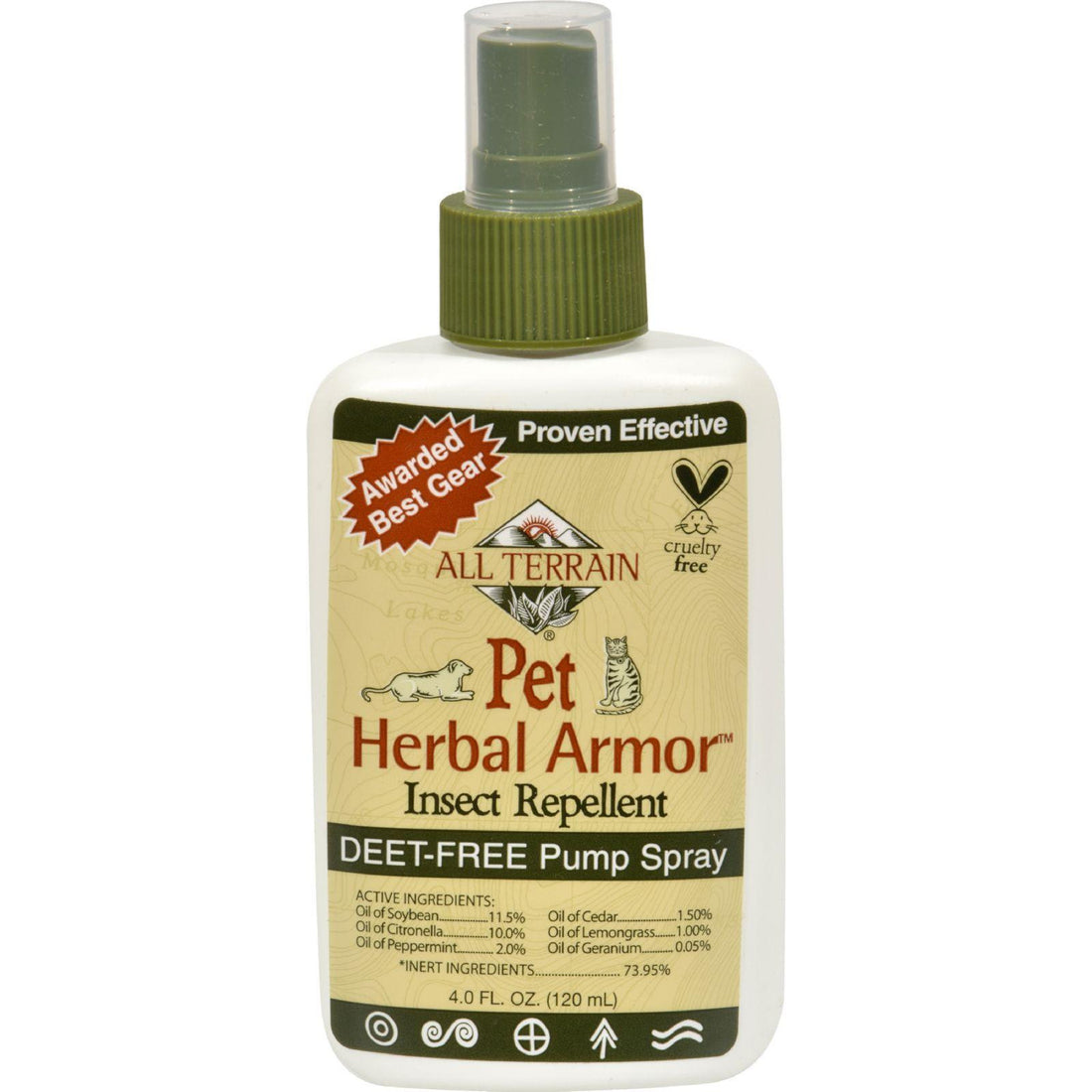 Mother Mantis: All Terrain Pet Herbal Armor Insect Repellent - 4 Fl Oz All Terrain