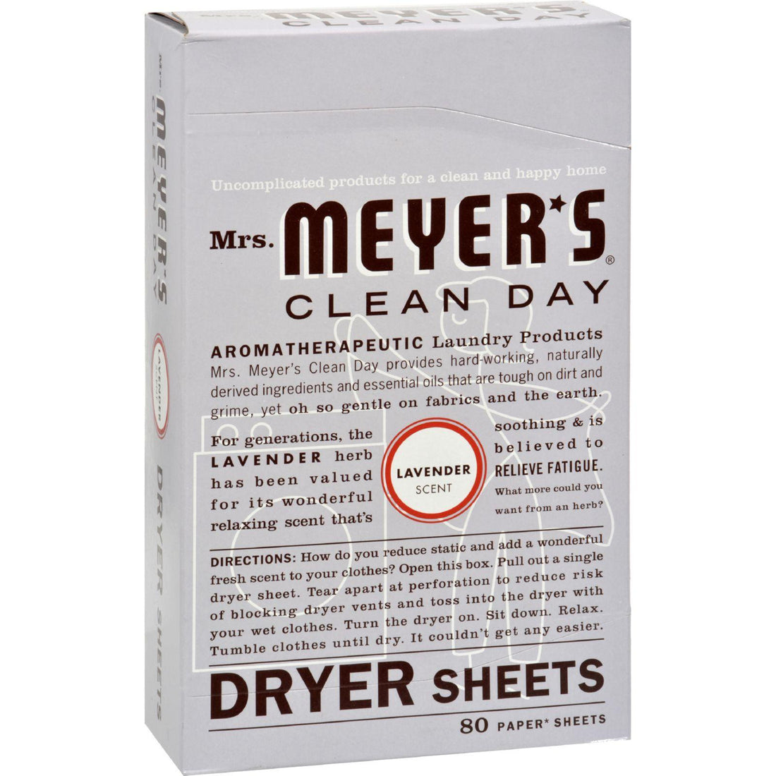 Mother Mantis: Mrs. Meyer's Dryer Sheets - Lavender - Case Of 12 - 80 Sheets Mrs. Meyer's