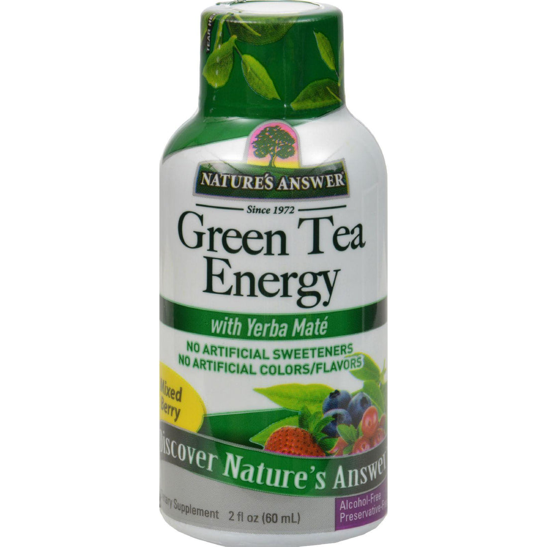 Mother Mantis: Nature's Answer Green Tea Energy Display Center Case - Case Of 12 - 2 Oz Nature's Answer