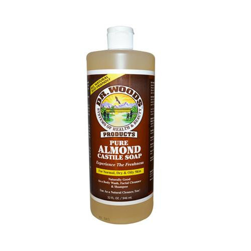 Mother Mantis: Dr. Woods Pure Castile Soap Almond - 32 Fl Oz Dr. Woods