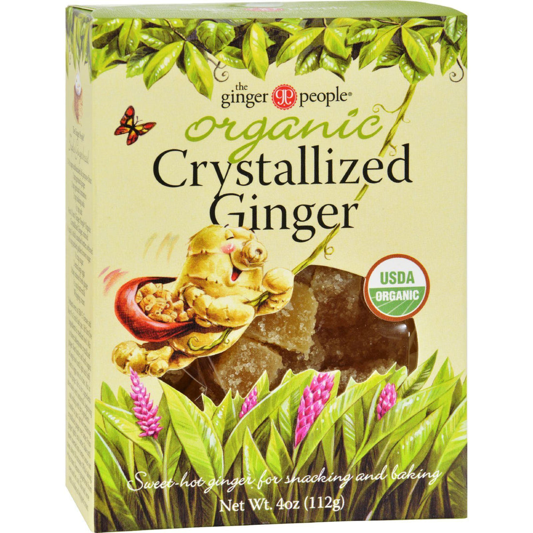 Mother Mantis: Ginger People Organic Crystallized Ginger Box - 4 Oz - Case Of 12 Ginger People