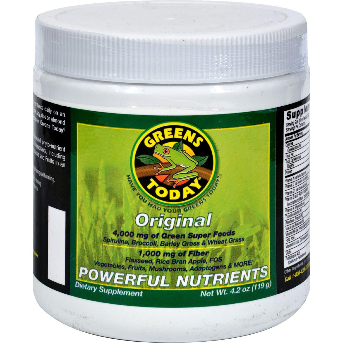 Mother Mantis: Greens Today Superfood For Everyday Health Original Formula - 4.2 Oz Greens Today