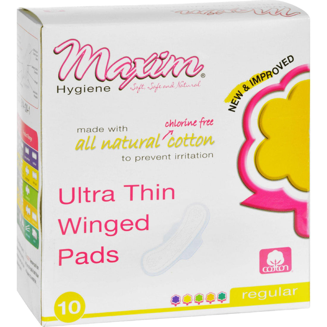 Mother Mantis: Maxim Hygiene Natural Cotton Ultra Thin Winged Pads Daytime - 10 Pads Maxim Hygiene Products
