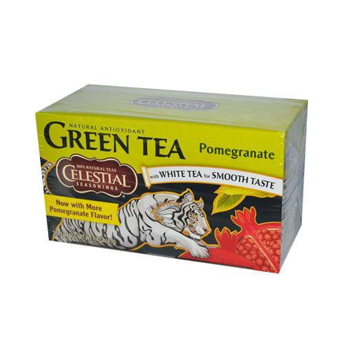 Mother Mantis: Celestial Seasonings Green Tea Pomegranate - Contains Caffeine - Case Of 6 - 20 Bags Celestial Seasonings