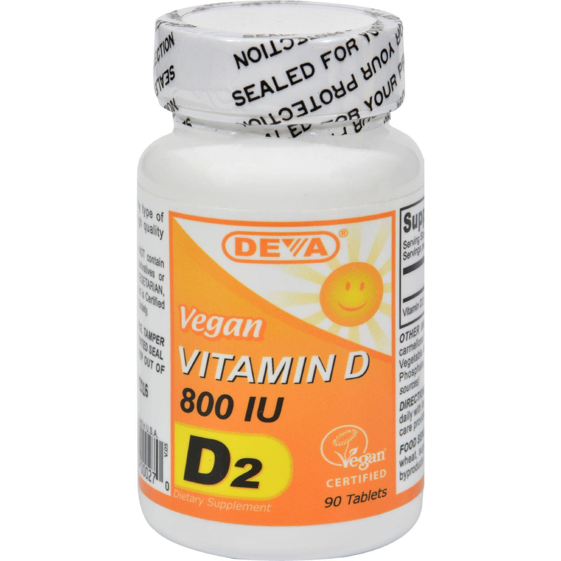 Mother Mantis: Deva Vegan Vitamin D - 800 Iu - 90 Tablets Deva Vegan Vitamins