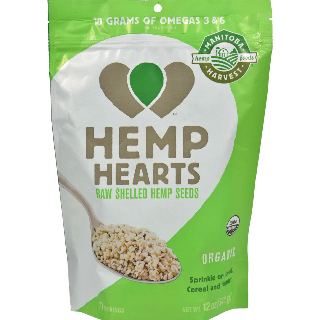 Mother Mantis: Manitoba Harvest Certified Organic Hemp Hearts Shelled Hemp Seed- Case Of 6 - 12 Oz Manitoba Harvest