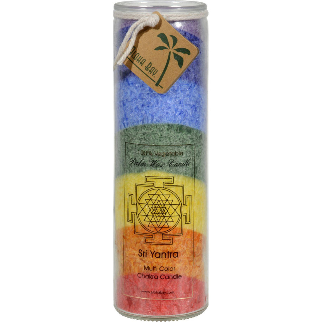 Mother Mantis: Aloha Bay Unscented Chakra Jar Rainbow Sri Yantra 7 Color - 1 Candle Aloha Bay