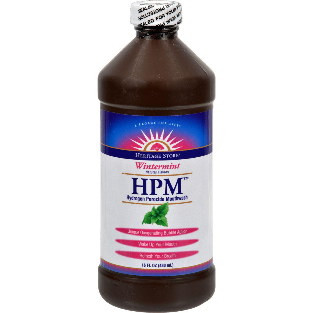 Mother Mantis: Heritage Products Hpm Hydrogen Peroxide Mouthwash Wintermint - 16 Fl Oz Heritage Products