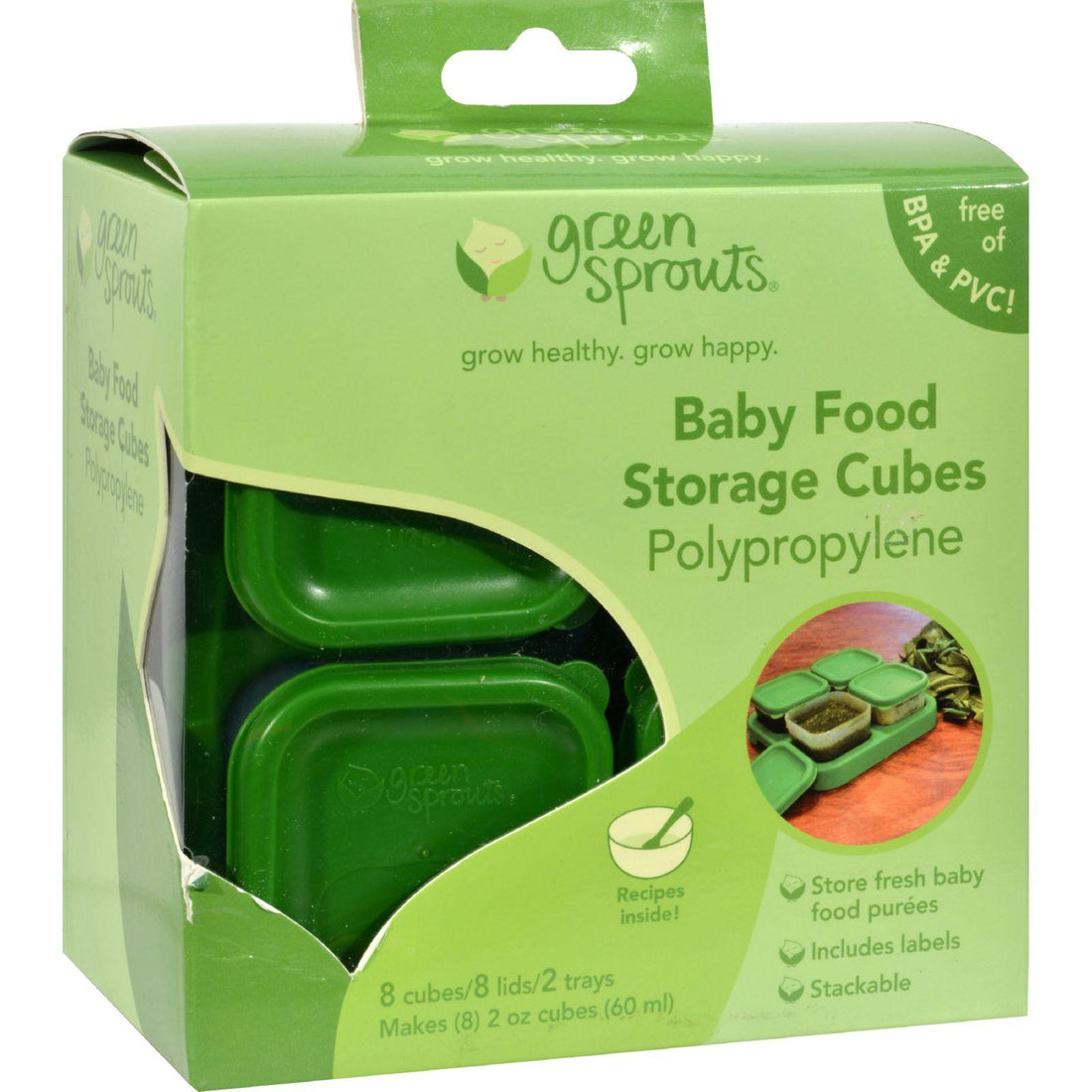 Mother Mantis: Green Sprouts Food Storage Cubes - 8 Pack Green Sprouts